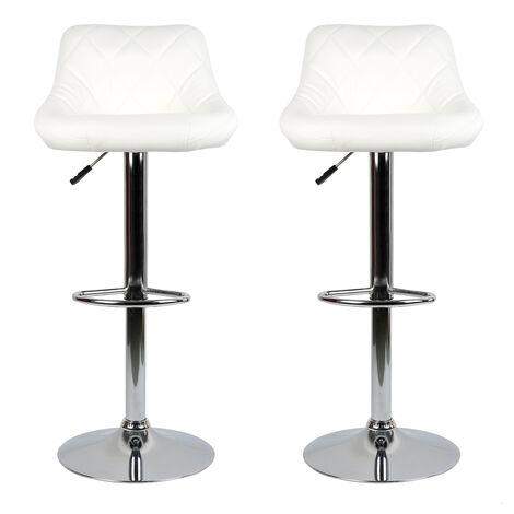 BATHRINS®Barhocker,4er set mit gut gepolstertem Sitz,Kunstlederhocker einstellbar-weiß