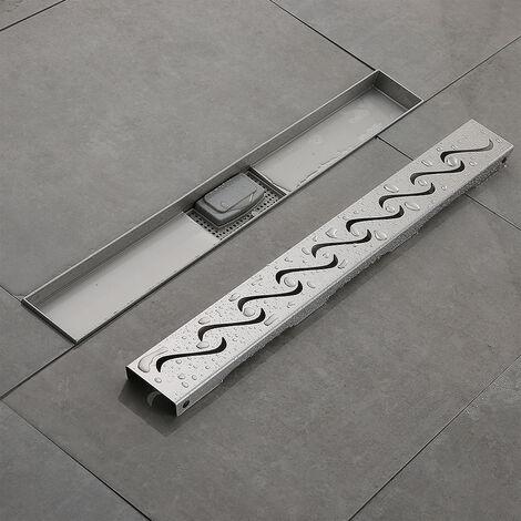 BATHRINS®Caniveau de douche 60 cm en inox 304 pour la douche à l'italienne.