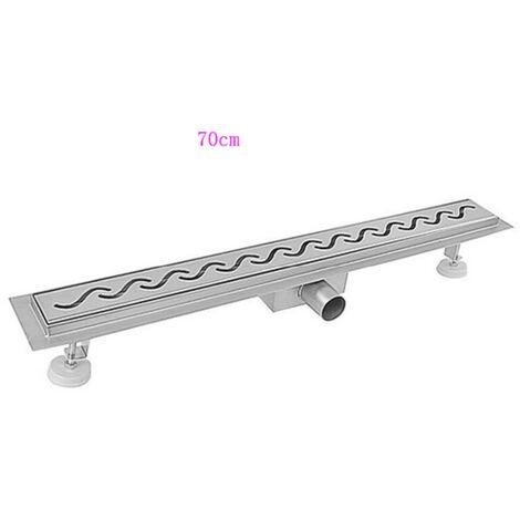 BATHRINS®Caniveau de douche 70 cm en inox 304 pour la douche à l'italienne.