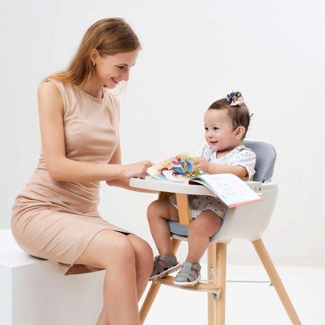 BATHRINS®Chaise haute repas bébé Enfant - Chaise Haute Chaise haute repas bébé Enfant - Chaise Haute Ergonomique, Plateau repas amovible, Réglable 2 hauteurs, Confortable, bleu ciel