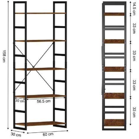 BATHRINS®Regal Retro Industrial Style 5 Schichten 60 * 30 * 158cm