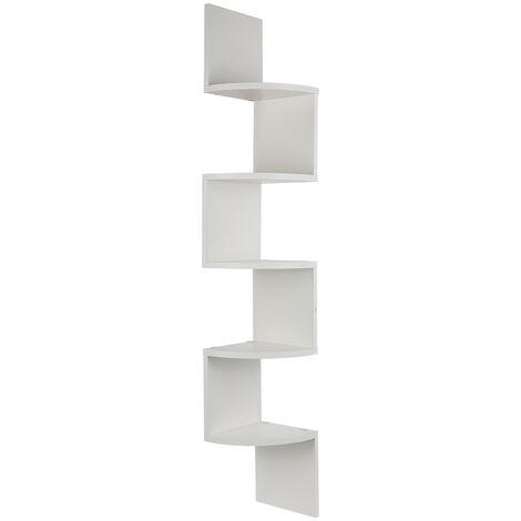 BATHRINS®Regal,Wandregal,Eckbügel,dekoratives Regal,weiß,20 x 20 x 120 cm