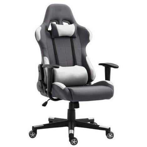 BATHRINS®Schreibtischstuhl,Spielstuhl mit fester Armlehne Bürostuhl Schwarz und weiß