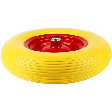 BATHRINS®Schubkarre Rad- Anti-Punktion| 4,80 / 4,00-8 | Ø 390mm | 200 kg | Achse enthalten | Ersatzrad