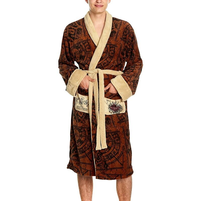 Image of Groovy - Bathrobe Night Gown Robe Harry Potter Marauder's Map Official Merch