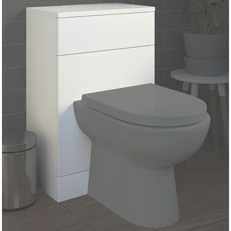"""main image of """"Bathroom 500 x 330mm Back To Wall BTW Toilet Cistern Unit White Gloss Modern"""""""