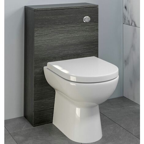 Bathroom 500x215 Back To Wall BTW Toilet Cistern Unit Only Charcoal Grey Modern