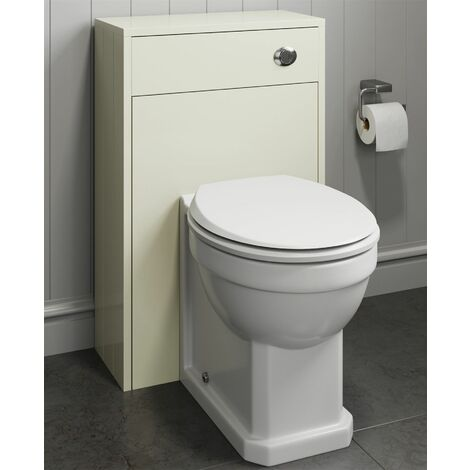 Bathroom 500x250mm Ivory Back To Wall BTW Toilet Cistern Unit Only Traditional