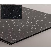Bathroom and Kitchen Cladding Aqua250 PVC Panel - 250mm x 2700mm x 5mm Black Sparkle - Pack of 4