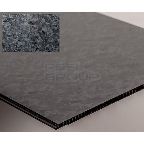 Bathroom and Kitchen Cladding Aqua250 PVC Panel - 250mm x 2700mm x 5mm Black Stone - Pack of 4