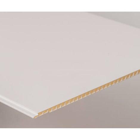 Bathroom and Kitchen Cladding Aqua250 PVC Panel - 250mm x 2700mm x 5mm White Gloss - Pack of 4