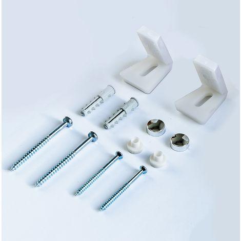 Bathroom Angled Floor WC Toilet Pan Bidet Side Fixing Fitting Kit Inc Brackets