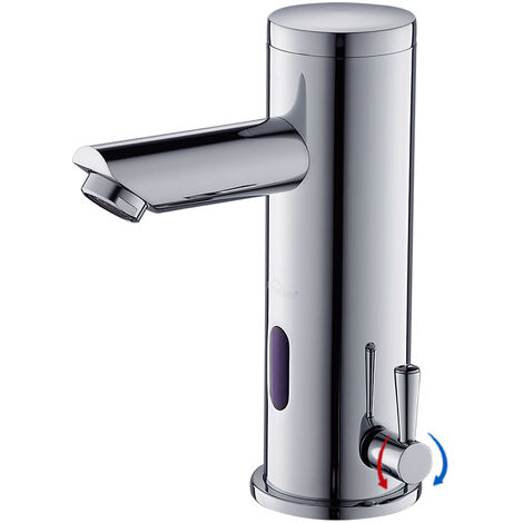 Bathroom Automatic Sensor Faucet Chromed Cold and Warm Water Mixer Tap Basin Mixing Tap