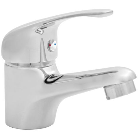 Bathroom Basin Mixer Tap Chrome Plated Brass Sink Ceramic Mixer