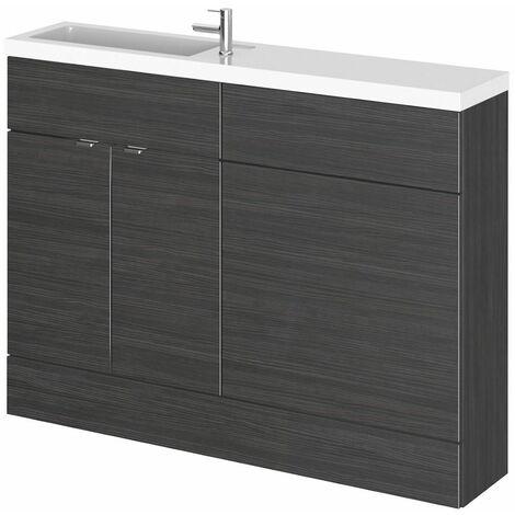Bathroom Basin Sink Vanity Combination Unit 1200mm Black Floorstanding Compact