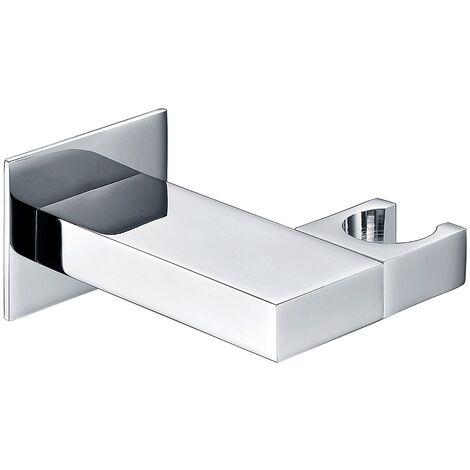 Bathroom Brass Square Wall Mounted Elbow Shower Handset Bracket Holder