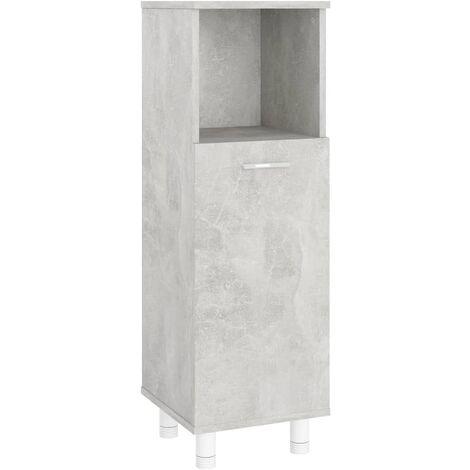 Bathroom Cabinet Concrete Grey 30x30x95 cm Chipboard