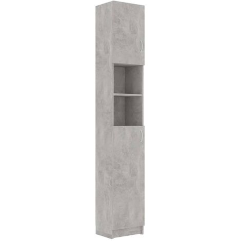 Bathroom Cabinet Concrete Grey 32x25.5x190 cm Chipboard