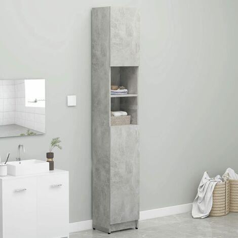 Bathroom Cabinet Concrete Grey 32x25.5x190 cm Chipboard - Grey