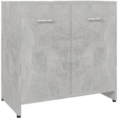 Bathroom Cabinet Concrete Grey 60x33x58 cm Chipboard