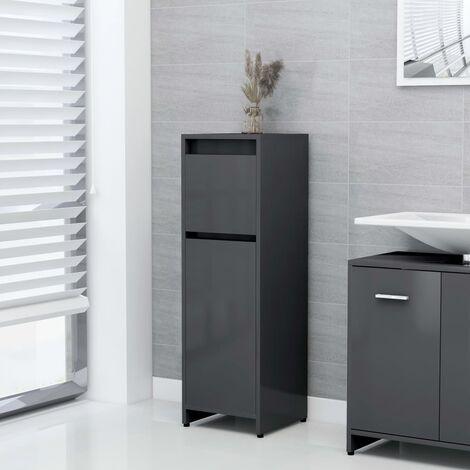 Bathroom Cabinet Grey 30x30x95 cm Chipboard - Grey