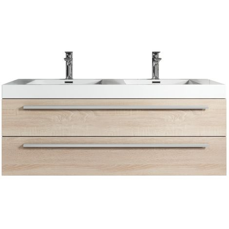 Bathroom Cabinet Rome 120 Cm Basin Light Oak Storage Vanity Unit Sink Furniture P 1694230 4103301 1 Jpg