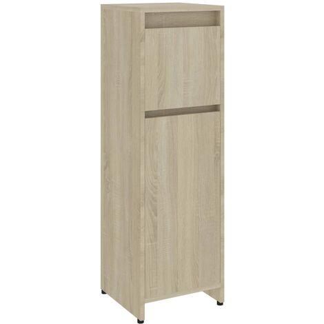 Bathroom Cabinet Sonoma Oak 30x30x95 cm Chipboard