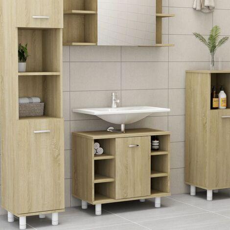 Bathroom Cabinet Sonoma Oak 60x32x53.5 cm Chipboard