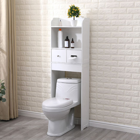 Bathroom Cabinet Storage Shelf Floor Rack Drawer Over-The-Toilet Bathroom Spacesaver