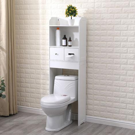 Bathroom Cabinet Storage Shelf Floor Rack Drawer Over-The-Toilet Bathroom Spacesaver