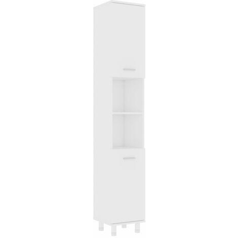 Bathroom Cabinet White 30x30x179 cm Chipboard