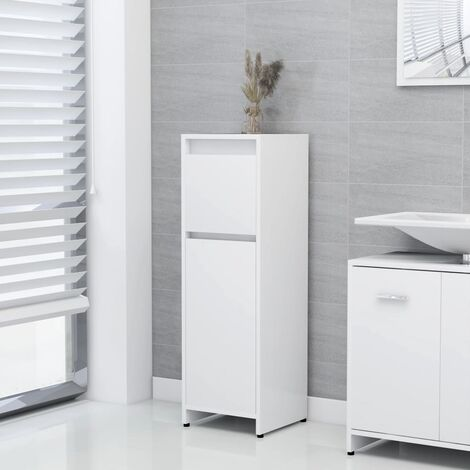Bathroom Cabinet White 30x30x95 cm Chipboard
