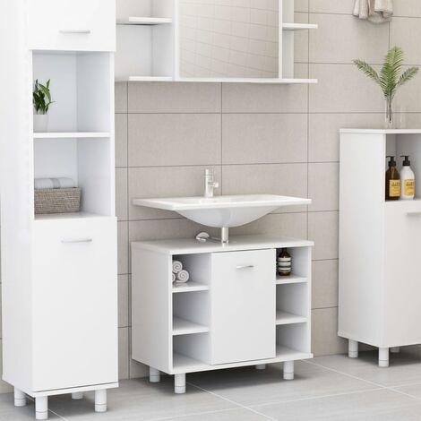 Bathroom Cabinet White 60x32x53.5 cm Chipboard