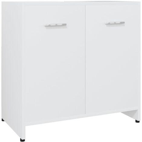 Bathroom Cabinet White 60x33x58 cm Chipboard