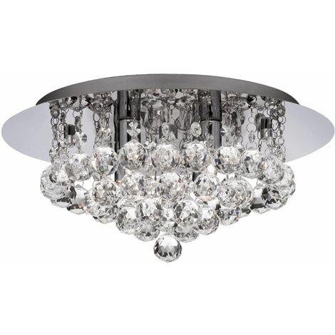 Bathroom ceiling light ip44 g9 led 4 chrome bulbs