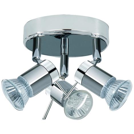Bathroom Ceiling Spotlight With 3 Adjustable Heads by Washington Lighting