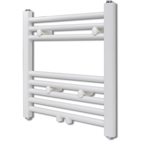 Bathroom Central Heating Towel Rail Radiator Straight 480 x 480 mm - White