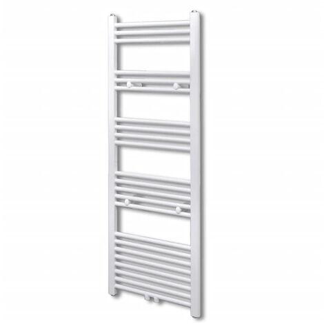 Bathroom Central Heating Towel Rail Radiator Straight 500 x 1424 mm - White