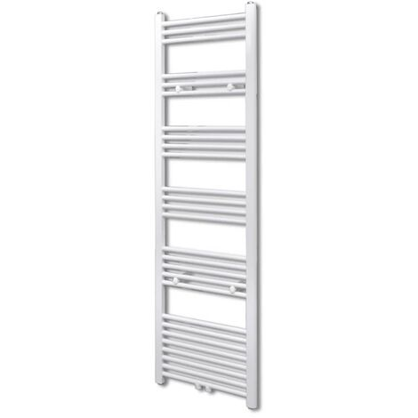Bathroom Central Heating Towel Rail Radiator Straight 500 x 1732 mm - White