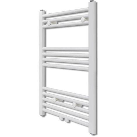 Bathroom Central Heating Towel Rail Radiator Straight 500 x 764 mm - White