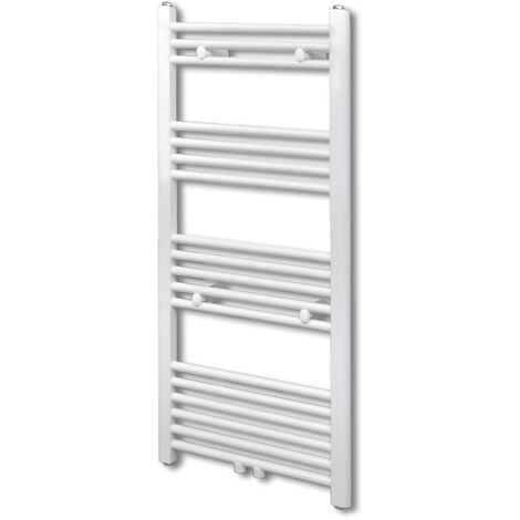 Bathroom Central Heating Towel Rail Radiator Straight 600 x 1160 mm - White