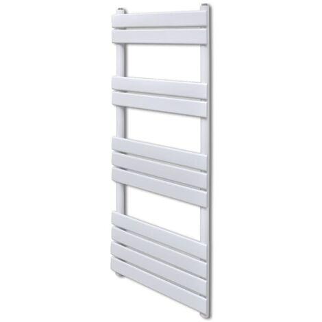 Bathroom Central Heating Towel Rail Radiator Straight 600 x 1200 mm - White