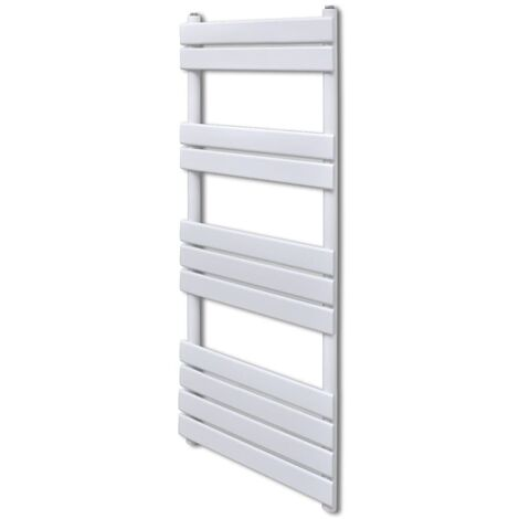 Bathroom Central Heating Towel Rail Radiator Straight 600 x 1200 mm - White