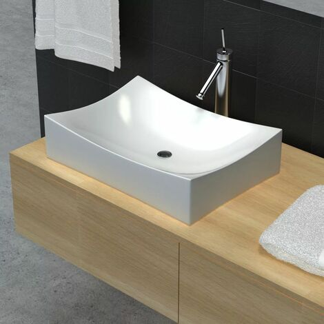 Bathroom Ceramic Porcelain Sink Art Basin White High Gloss