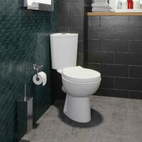 Bathroom Close Coupled Corner Toilet Space Saving Soft Close Seat
