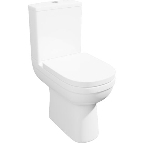 """main image of """"Bathroom Comfort Height Close Coupled Toilet Soft Close Seat WC Pan Cistern"""""""