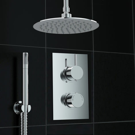 Bathroom Concealed Thermostatic Shower Mixer Hand Shower Ceiling Set