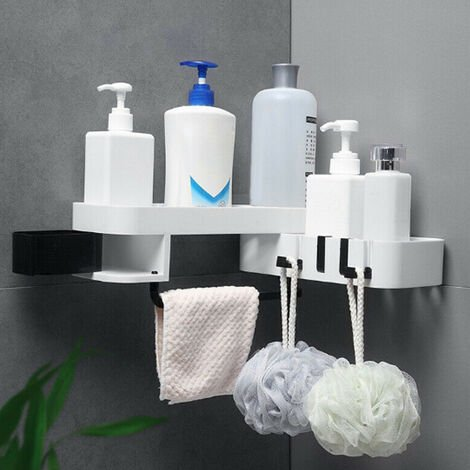Bathroom Corner Rack Shower Shampoo Storage Holder Wall Shelf Bathroom Organiser