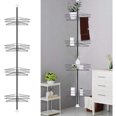 Bathroom Corner Shelf Telescopic Shower Caddy Holder Rack Organizer Adjustable