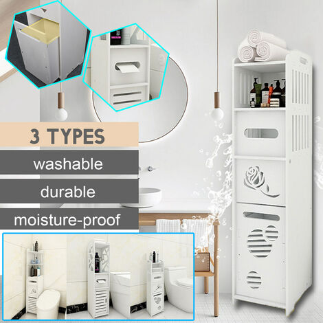 Bathroom Corner Storage Shelf Display Stand Home Shelf Bookcase Unit Cabinet Organizer (TYPE B)